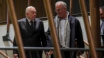 Dallas Cowboys owner Jerry Jones, left, and his son Stephen Jones, the team's executive vice president, leave after NFL owners meet to discuss a proposed labor agreement, Thursday Feb. 20, 2020, in New York. (AP Photo/Bebeto Matthews)