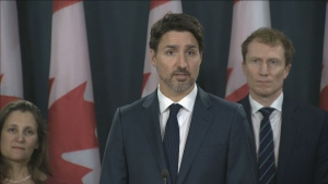 Prime Minister Justin Trudeau speaking to the media on the ongoing rail blockades.