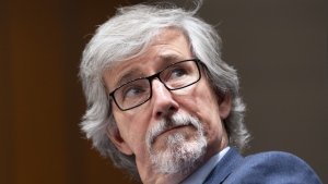 Canada's Privacy Commissioner Daniel Therrien waits to appear before The International Grand Committee on Big Data, Privacy and Democracy in Ottawa, Tuesday, May 28, 2019. THE CANADIAN PRESS/Adrian Wyld