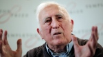 FILE - In this file photo dated Wednesday, March 11, 2015, showing Jean Vanier, the founder of L'ARCHE, an international network of communities where people with and without intellectual disabilities live and work together, in central London. An internal report revealed Saturday Feb. 22, 2020, that L'Arche founder Jean Vanier, a respected Canadian religious figure, sexually abused at least six women. (AP Photo/Lefteris Pitarakis, FILE)