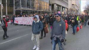 Rally held downtown in support of Wet'suwet'en hereditary chiefs