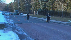 Toronto police are investigating a shooting near The Bridle Path and Lawrence Avenue on Saturday, Feb. 22, 2020