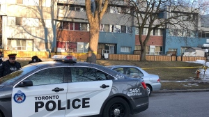 A woman in her 40s was taken to hospital with serious injuries after a shooting in Flemingdon Park on Sunday, Feb. 23, 2020