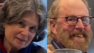 In these undated photos released by the Marin County Sheriff's Office are Carol Kiparsky and Ian Irwin. The academic couple who vanished during a getaway in the woods of Northern California were found Saturday, Feb. 22, 2020, by search-and-rescue workers who spent almost a week looking for them and gave up hopes of finding them alive. (Marin County Sheriff's Office via AP, File)