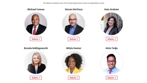 The candidates in the 2020 Ontario Liberal Party leadership race are pictured in this screen-grab image from the party`s website. (Ontario Liberal Party)