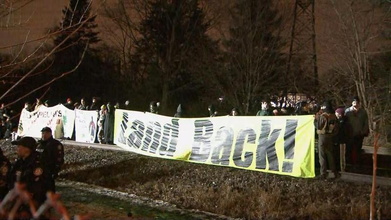 Rail protest