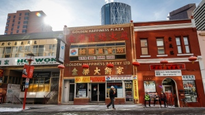 Businesses in Chinatowns across Canada have reported a drop in activity since COVID-19 hit China in January and started to spread around the world. The streets a quite in Chinatown in Calgary, Alta., Wednesday, Feb. 26, 2020. THE CANADIAN PRESS/Jeff McIntosh