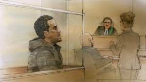 Whanny Mymuller, 38, is shown in this courthouse sketch.
