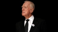 In this Friday, Oct. 16, 2015 file photo, actor Max Von Sydow attends the Lumiere Award ceremony of the 7th Lumiere Festival in Lyon, central France. (AP Photo/Laurent Cipriani, File)
