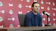 Toronto FC head coach Greg Vanney speaks to the media during an end of season availability in Toronto on November 13, 2019. THE CANADIAN PRESS/Chris Young