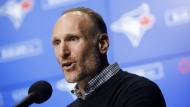Toronto Blue Jays president Mark Shapiro is seen during a press conference announcing the signing of Hyun-Jin Ryu to the team, in Toronto, Friday, Dec. 27, 2019. THE CANADIAN PRESS/ Cole Burston