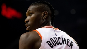 Toronto Raptors' Chris Boucher is pictured during NBA basketball action against San Antonio Spurs in Toronto on Sunday January 12, 2020. THE CANADIAN PRESS/Chris Young