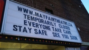 The Mayfair Theatre is closed because of the COVID-19 pandemic (Photo courtesy Facebook/Mayfair Theatre