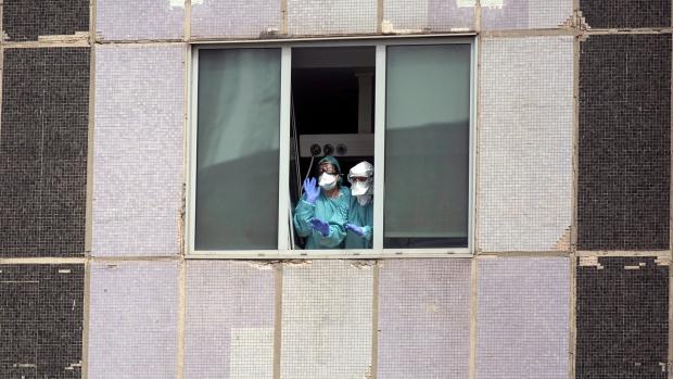 Spain healthcare worker