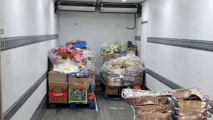 Donated food from Scotiabank Arena