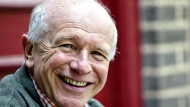 "This May 14, 2006 file photo shows Tony Award winning playwright Terrence McNally in front of the Philadelphia Theater Company  in Philadelphia. McNally, one of America's great playwrights whose prolific career included winning Tony Awards for the plays ""Love! Valour! Compassion!"" and ""Master Class"" and the musicals ""Ragtime"" and ""Kiss of the Spider Woman,"" died Tuesday, March 24, 2020, of complications from the coronavirus. He was 81. (AP Photo/H. Rumph Jr)"