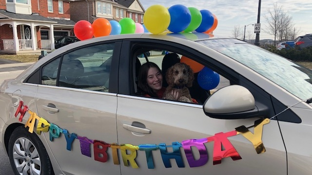 Chase Ernewein and her dog celebrates her 14th birthday on March 26, 2020. (Submitted)