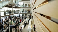 People mingle at the opening of the Four Seasons Centre for the Performing Arts in Toronto, Sunday, June 11, 2006. The Canadian Opera Company is dropping the rest of its 2019/2020 season amid the COVID-19 outbreak. THE CANADIAN PRESS/Aaron Harris