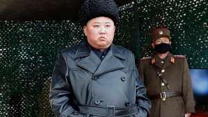 FILE - In this Monday, March 2, 2020, file photo provided by the North Korean government, North Korean leader Kim Jong Un inspects a military drill at undisclosed location in North Korea. North Korea has fired two suspected ballistic missiles into the sea, South Korea said Sunday, March 29, 2020. Independent journalists were not given access to cover the event depicted in this image distributed by the North Korean government. The content of this image is as provided and cannot be independently verified.(Korean Central News Agency/Korea News Service via AP, File)