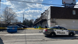 Toronto police are investigating a shooting in the area of Finch Avenue West and Weston Road on Sunday, March 29,2020. (Peter Muscat)