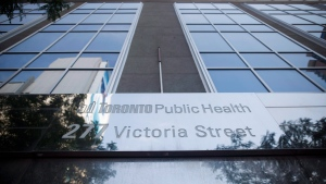 Toronto Public Health's offices at Dundas and Victoria St. in Toronto is seen on Monday, August 21, 2017. THE CANADIAN PRESS/Cole Burston
