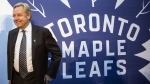 Michael Friisdahl president and CEO of Maple Leaf Sports and Entertainment poses in Toronto's Maple Leaf Square on October 13, 2016. Top Maple Leaf Sports & Entertainment executives are taking pay cuts in the wake of COVID--19 shutting down the company's sports and entertainment business. THE CANADIAN PRESS/Chris Young