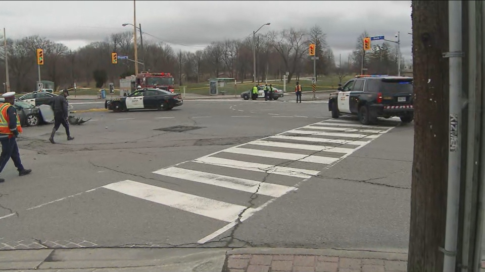 The province's police watchdog are investigating a collision in North York that injured two people on Saturday, April 4.