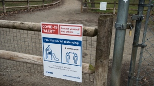 The High Park off leash dog park is closed in Toronto on Tuesday, March 31, 2020. Ontario has closed recreation areas due to the coronavirus also known as COVID-19. THE CANADIAN PRESS/Nathan Denette