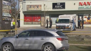 Toronto police are investigating a fatal assault in Scarborough on Sunday, April 5, 2020.
