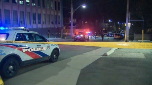 Toronto police are investigating a fatal shooting near Oakwood and St. Clair on Wednesday, April 8, 2020.