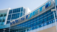 WestJet's head office in Calgary is pictured on Wednesday, March 25, 2020. (THE CANADIAN PRESS / Jeff McIntosh)