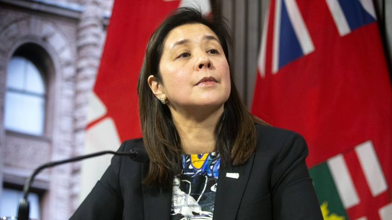 FILE -- Dr. Eileen de Villa, Medical Officer of Health for the City of Toronto attends a news conference in Toronto, on Monday, January 27, 2020, as officials provide an update on the coronavirus in Canada. THE CANADIAN PRESS/Chris Young