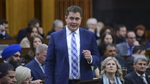 Conservative leader Andrew Scheer asks a question during question period in the House of Commons on Parliament Hill in Ottawa on Thursday, March 12, 2020. THE CANADIAN PRESS/Sean Kilpatrick