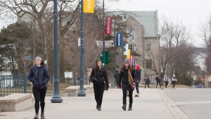 Queen's University campus in Kingston, Ontario, on Wednesday March 18, 2020. THE CANADIAN PRESS/Lars Hagberg