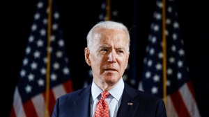In this March 12, 2020, file photo Democratic presidential candidate former Vice President Joe Biden speaks about the coronavirus in Wilmington, Del. (AP Photo/Matt Rourke, File)