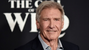 "In this Feb. 13, 2020 file photo, Harrison Ford attends the premiere of ""The Call of the Wild"" in Los Angeles. (Photo by Richard Shotwell/Invision/AP)"