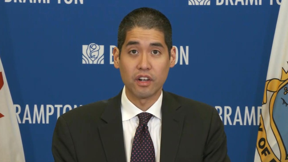 Peel Region Medical Officer of Health Dr. Lawrence Loh is shown during a press conference on Wednesday.
