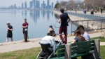 People enjoy the warm weather in Toronto, on Sunday May 3, 2020. THE CANADIAN PRESS/Chris Young