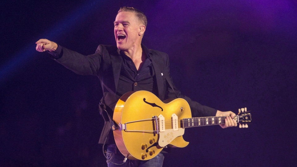 Bryan Adams performs during the Invictus Games closing ceremony in Toronto on September 30, 2017. The Progressive Conservatives have turned to Adams' longtime hitmaker Jim Vallance to pen their campaign song.THE CANADIAN PRESS/Chris Young