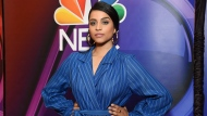 """FILE - This May 13, 2019 file photo shows Lilly Singh at the NBC 2019/20 Upfront in New York. Singh's late-night show """"A Little Late With Lilly Singh"""" debuts on NBC on Monday, Sept. 16, 2019, making the YouTube sensation only the second woman of color to host a nightly network talk show in the past two decades. (Photo by Evan Agostini/Invision/AP, File)"""