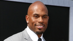 "In this June 28, 2015 file photo, WWE wrestler Shad Gaspard arrives at the Los Angeles premiere of ""Terminator Genisys"" at the Dolby Theatre on in Los Angeles. (Photo by Rich Fury/Invision/AP, File)"