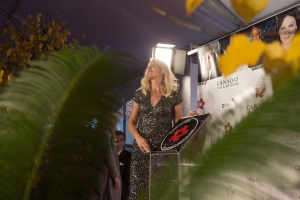 "Silken Laumann poses for photographs with her plaque as she is inducted into Canada's Walk of Fame during an event in Toronto on Saturday, November 7, 2015. Olympic rower Laumann and ""Never Have I Ever"" star Maitreyi Ramakrishnan will host a star-studded special in support of Kids Help Phone this Friday afternoon.""Unsinkable Youth"" will air on CTV as well as on Facebook and YouTube. THE CANADIAN PRESS/Chris Young"