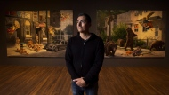 Cree artist Kent Monkman poses for a photograph in Toronto on Wednesday, January 18, 2017. Monkman is apologizing for a painting that critics say depicts Indigenous women laughing at the sexual assault of Prime Minister Justin Trudeau.THE CANADIAN PRESS/Nathan Denette