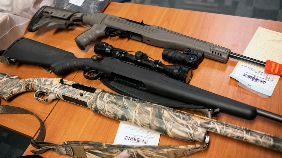 Long guns seized by York Regional Police in Project Stanley.