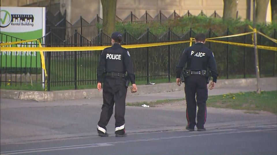 Toronto police are investigating a shooting in Thorncliffe Park.