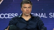 "FILE - In this Jan. 30, 2019, file photo, Anson Mount participates in the 'Star Trek: Discovery' show panel during the CBS All Access presentation at the Television Critics Association Winter Press Tour at The Langham Huntington in Pasadena, Calif. Mount plays Capt. Christopher Pike, a once-obscure character in the ""Star Trek"" universe who is getting a deeper examination in the upcoming series ""Star Trek: Strange New Worlds"" and showing a form of leadership distinctly different from that of the franchise's most famous starship leader, Capt. Kirk. (Photo by Willy Sanjuan/Invision/AP, File)"