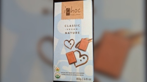 iChoc vegan chocolate bars are seen in this image. (CFIA)