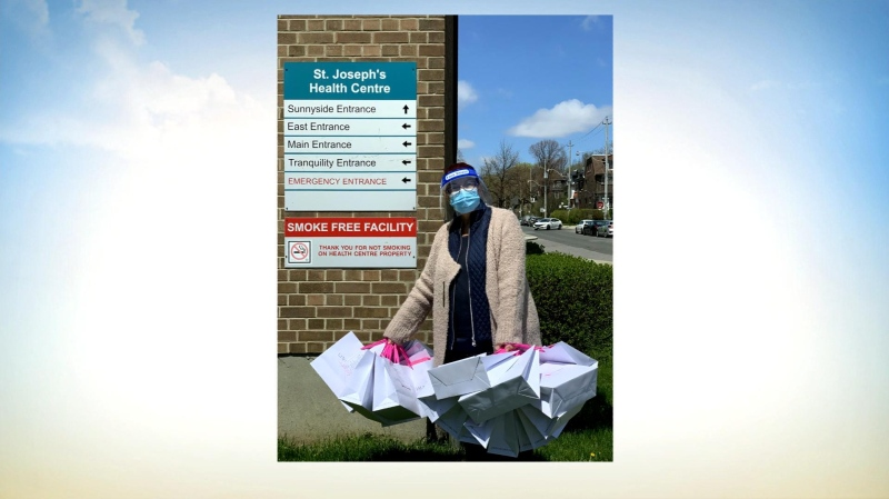 Linea Intima Lingerie donates gift bags to nurses.