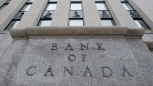 The Bank of Canada sign is seen in Ottawa in this undated photo. THE CANADIAN PRESS/Adrian Wyld