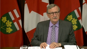 Ontario's Chief Medical Officer Dr. David Williams is pictured.